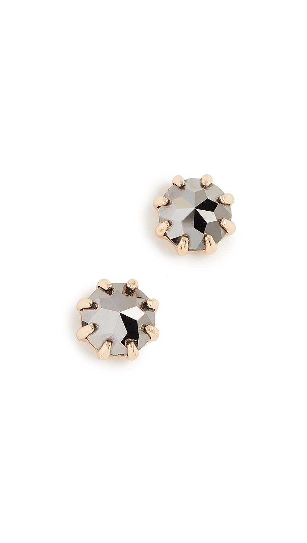 Rebecca Minkoff Rhinestone Stud Earrings - Hematite