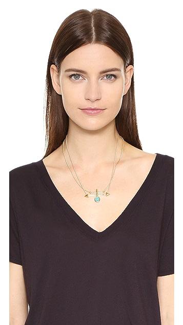 Rebecca Minkoff Boho Bead Spike Pendant Necklace