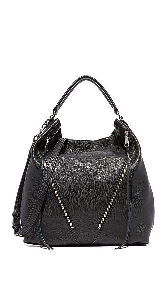 Rebecca Minkoff Moto Hobo Bag - Black