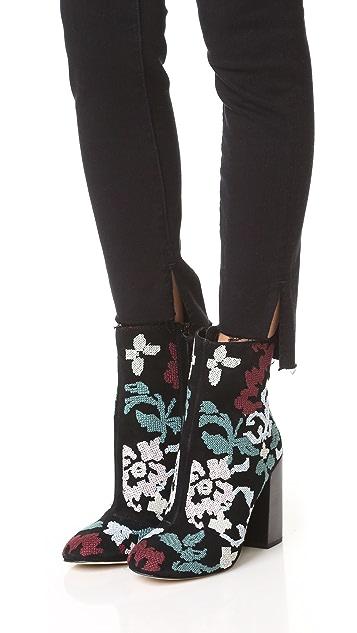 Rebecca Minkoff Bojana Embroidered Booties