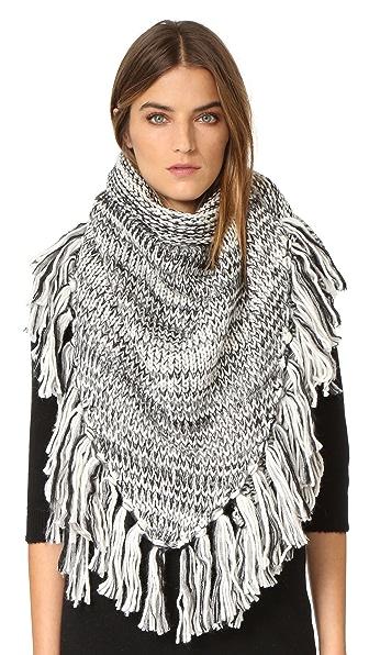 Rebecca Minkoff Треугольный шарф из объемного меланжевого материала
