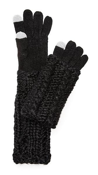 Rebecca Minkoff Теплые перчатки ручной вязки косичками для использования смартфонов