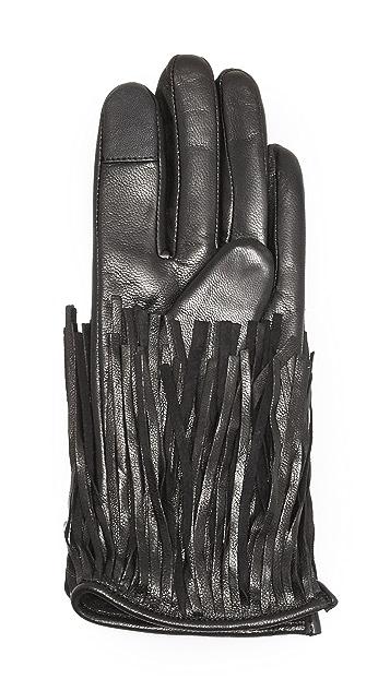 Rebecca Minkoff Fringe Texting Gloves
