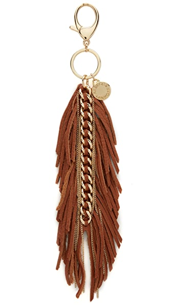 Rebecca Minkoff Feather Chain Key Fob - Almond/Light Gold
