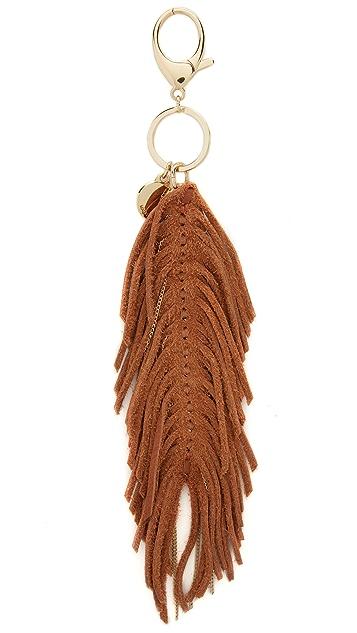 Rebecca Minkoff Feather Chain Key Fob