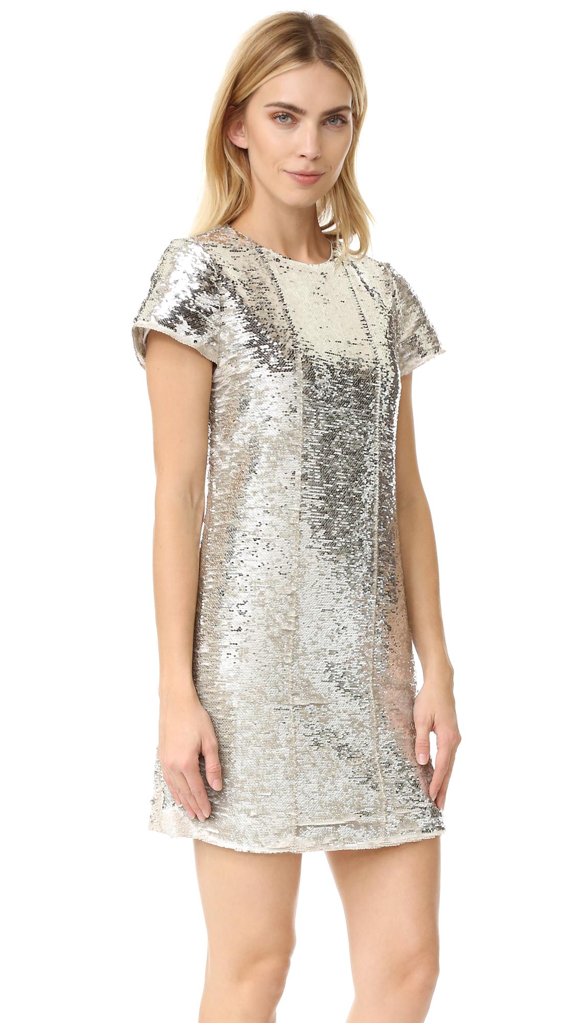 Rebecca Minkoff Lynx Sequin Dress - Gold/Silver