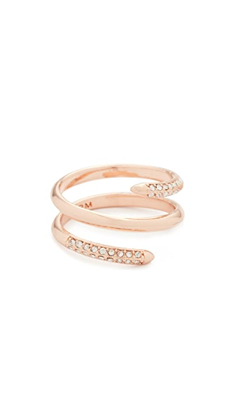 Rebecca Minkoff Pave Multi Row Ring