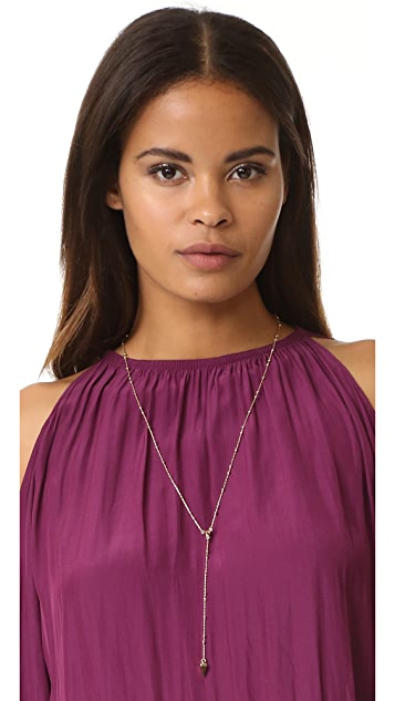 Rebecca Minkoff Beaded Y Necklace