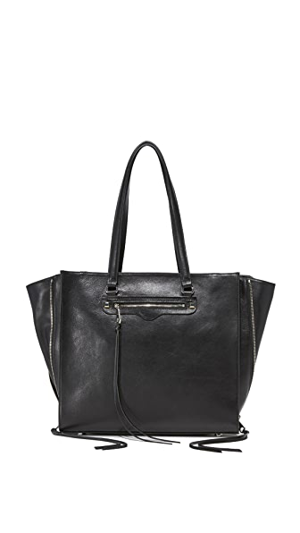 Rebecca Minkoff Side Zip Regan Tote - Black