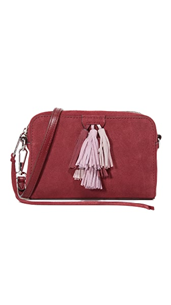Rebecca Minkoff Suede Sofia Cross Body Bag - Port Multi