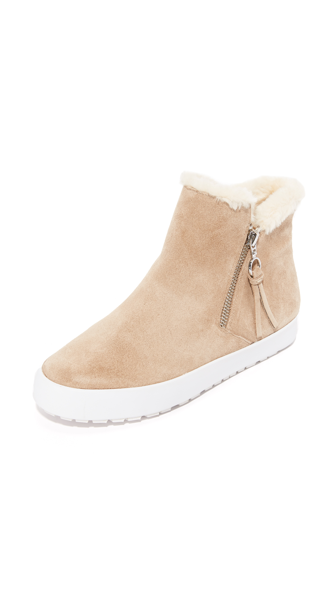 Rebecca Minkoff Shelly Sherpa Booties - Taupe