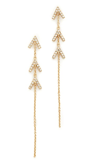 Rebecca Minkoff Triple V Drop Earrings