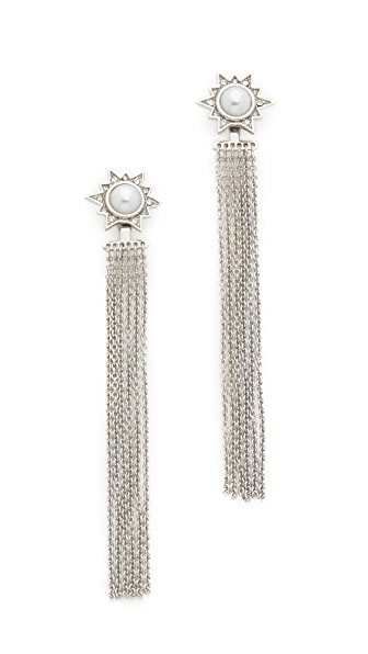 Rebecca Minkoff Fringe Front & Back Earrings