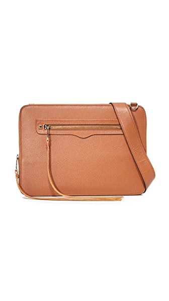 Rebecca Minkoff Regan Laptop Sleeve with Strap - Almond