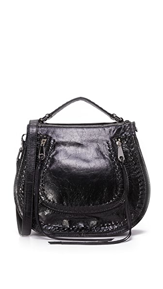 Rebecca Minkoff Vanity Saddle Bag - Black