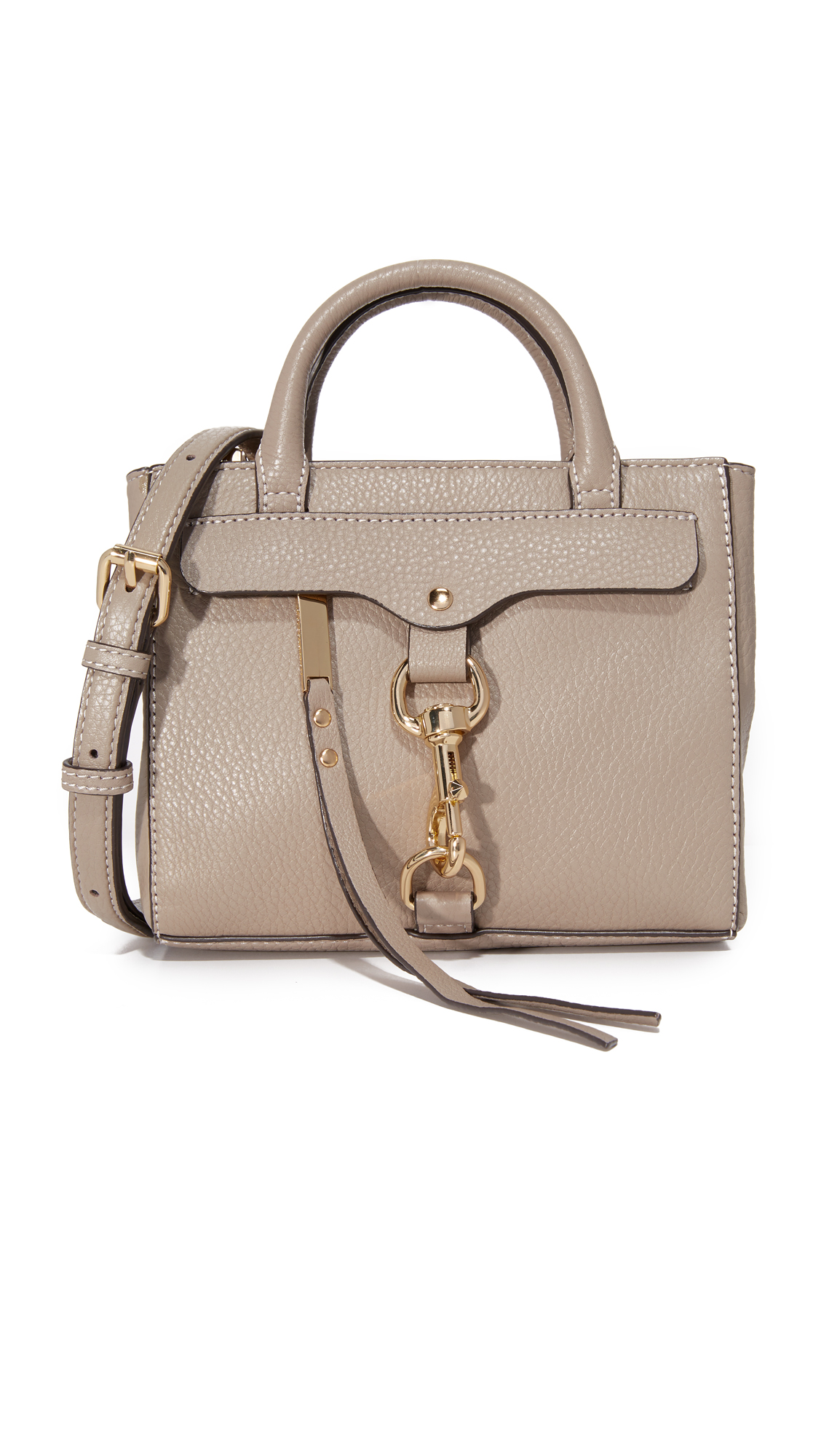 Rebecca Minkoff Dog Clip Tote Cross Body Bag - Mushroom