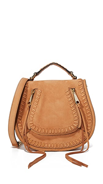 Rebecca Minkoff Small Vanity Saddle Bag - Almond