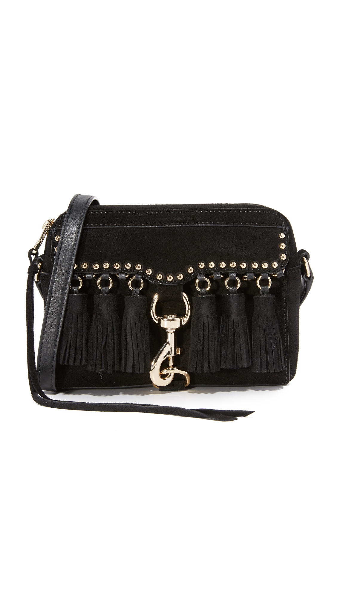 Rebecca Minkoff Multi Tassel Camera Bag - Black