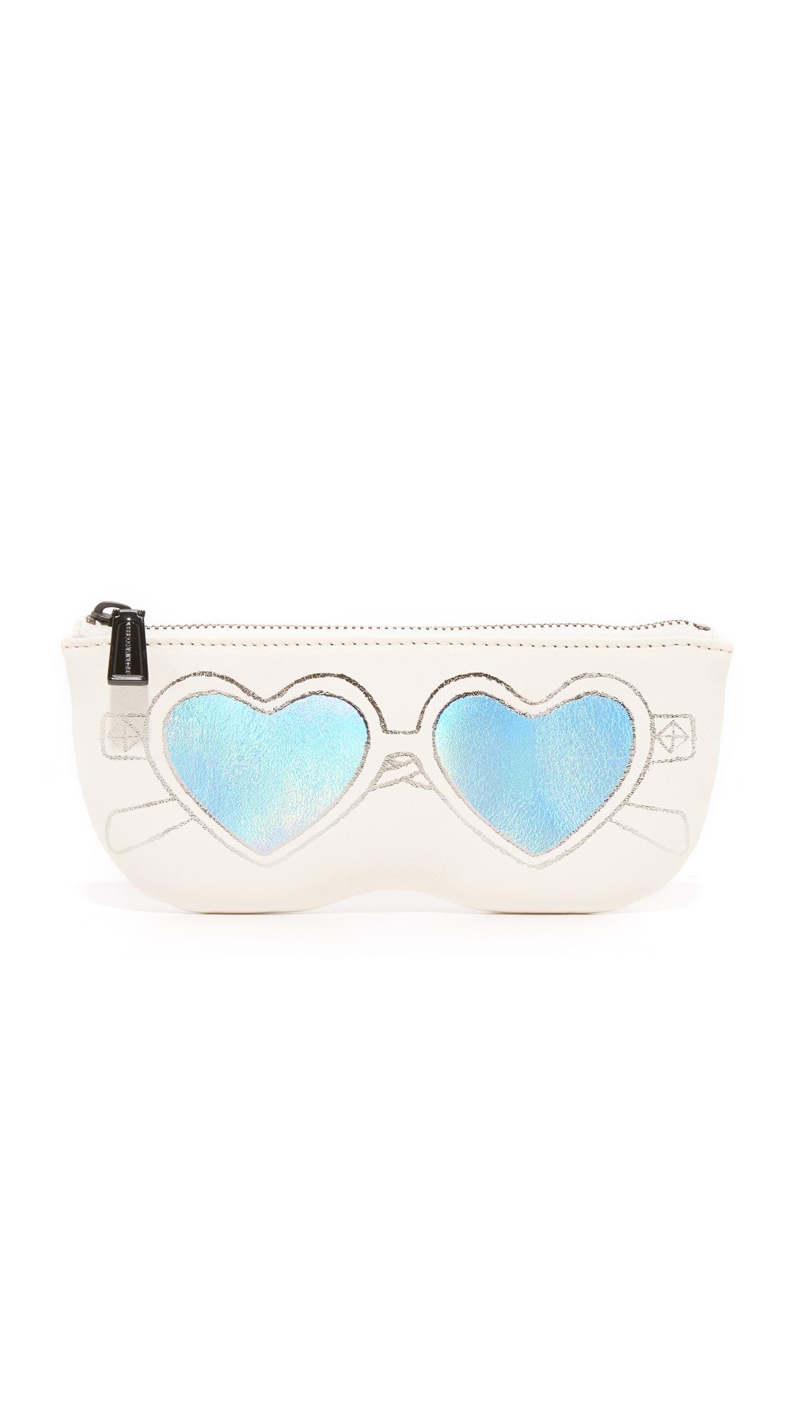 rebecca minkoff female rebecca minkoff heart sunnies pouch antique white