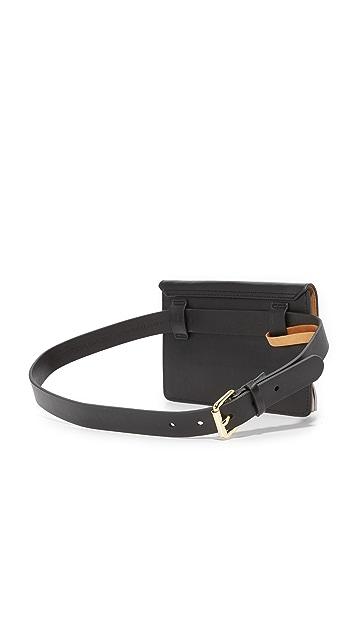 Rebecca Minkoff Metallic Tassel Belt Bag
