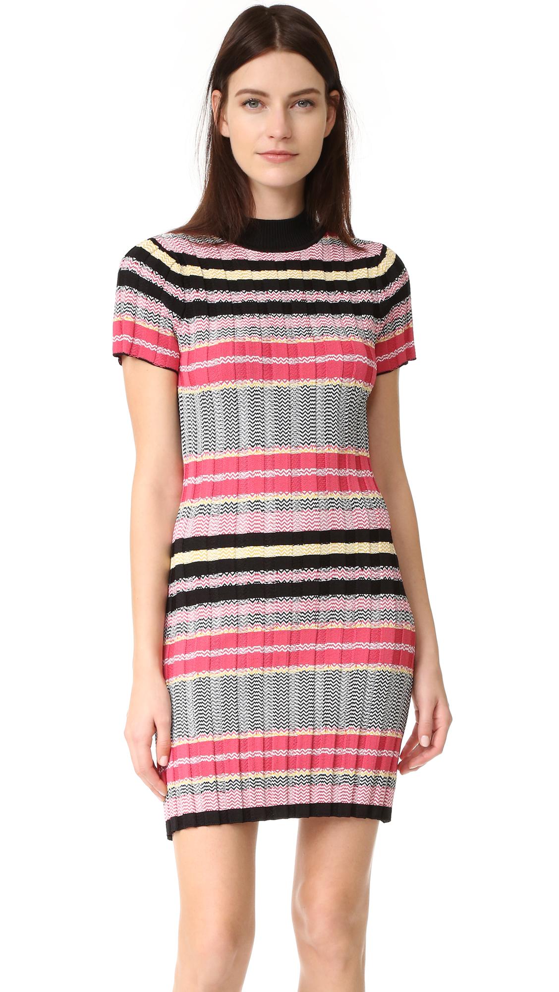 Rebecca Minkoff Burke Dress - Black Multi Stripe