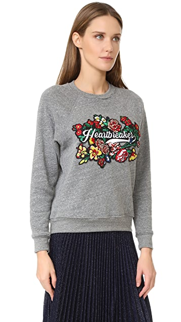 Rebecca Minkoff Heartbreaker Patch Sweatshirt
