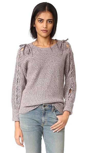 Rebecca Minkoff Malcom Lace Up Sweater