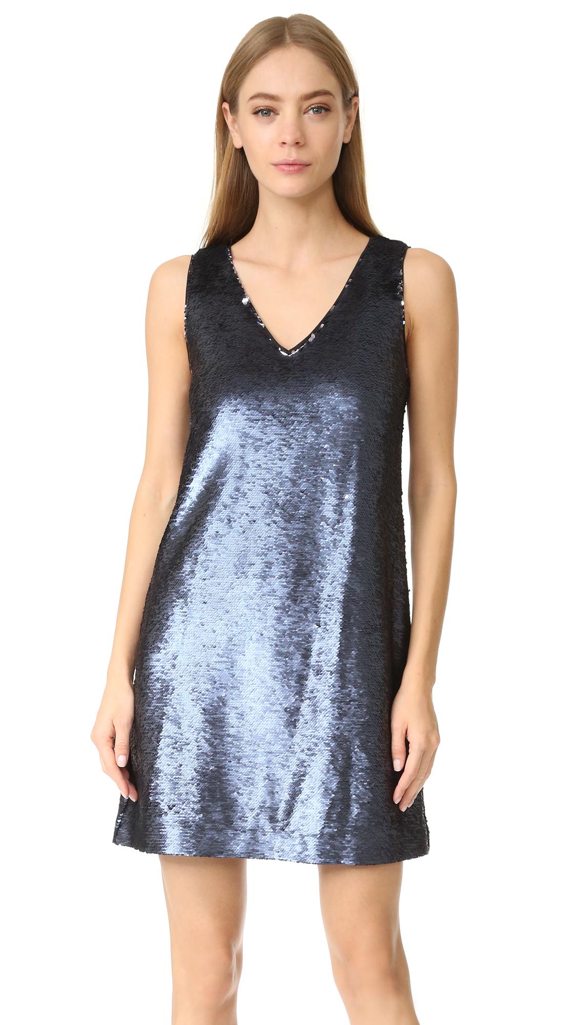 Rebecca Minkoff Claire Sequin Dress - Navy/Silver