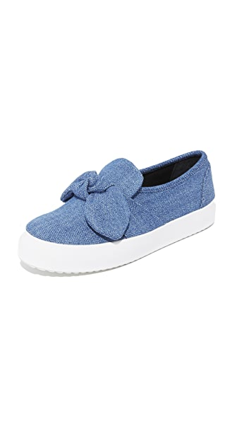 Rebecca Minkoff Stacey Denim Slip On Sneakers - Light Blue