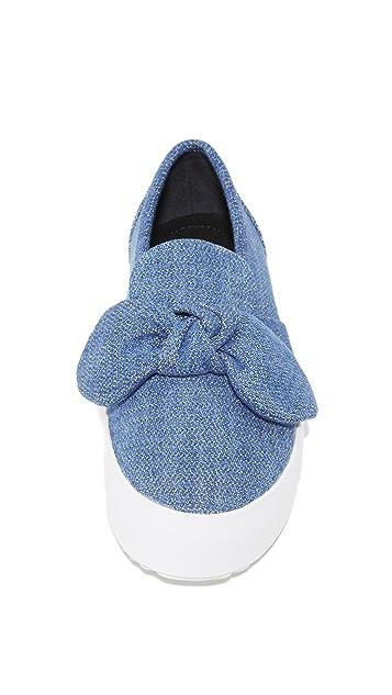Rebecca Minkoff Stacey Denim Slip On Sneakers