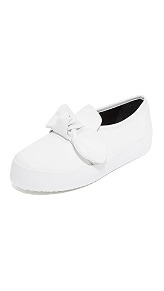 Rebecca Minkoff Stacey Leather Slip On Sneakers - White