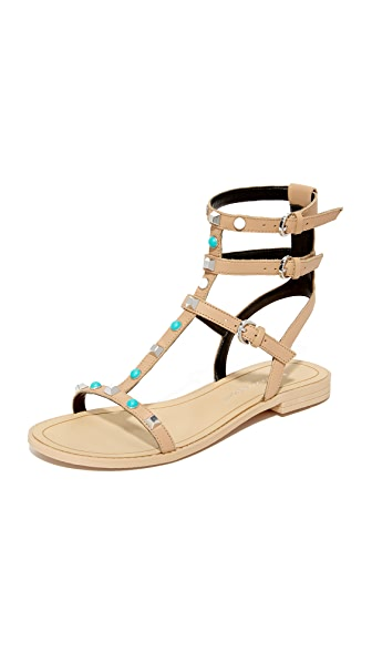 Rebecca Minkoff Georgina Too Studded Sandals - Nude