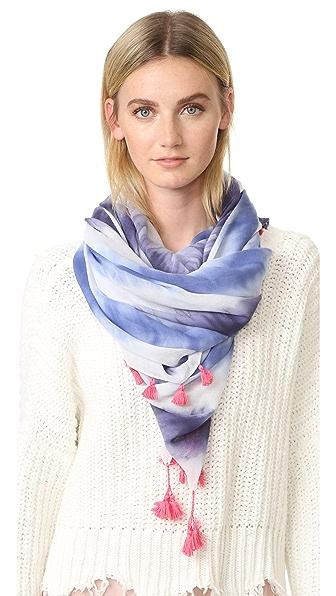 Rebecca Minkoff Квадратный шарф с рисунком в технике узелкового батика
