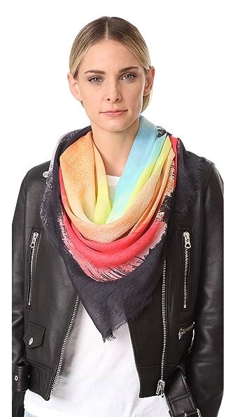Rebecca Minkoff Квадратный шарф с живописным изображением пальм