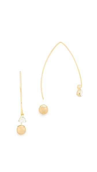 Rebecca Minkoff Crystal Drop Hard Threader Earrings