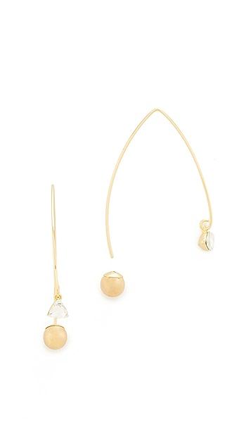 Rebecca Minkoff Crystal Drop Hard Threader Earrings
