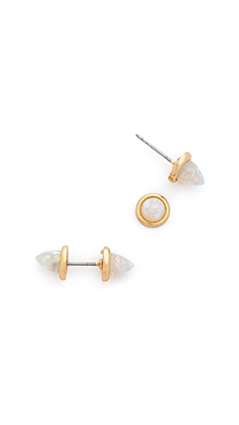 Rebecca Minkoff Spear Front Back Stud Earrings