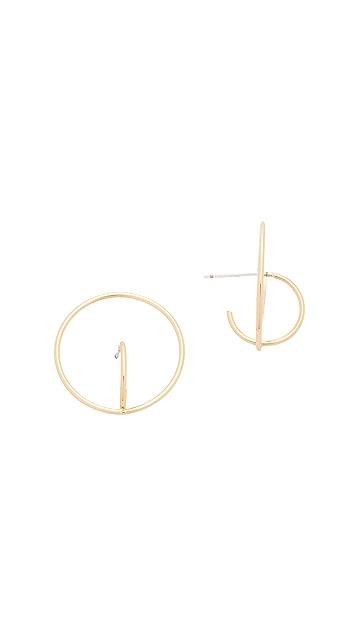 Rebecca Minkoff Encircled Baby Hoop Earrings
