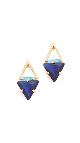 Rebecca Minkoff Thread Wrapped Geometric Stud Earrings