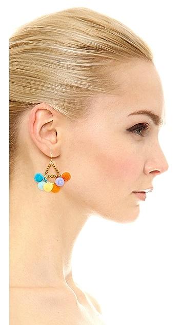 Rebecca Minkoff Savanna Pom Pom Chandelier Earrings