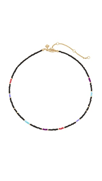 Rebecca Minkoff Seed Bead Choker Necklace In Black