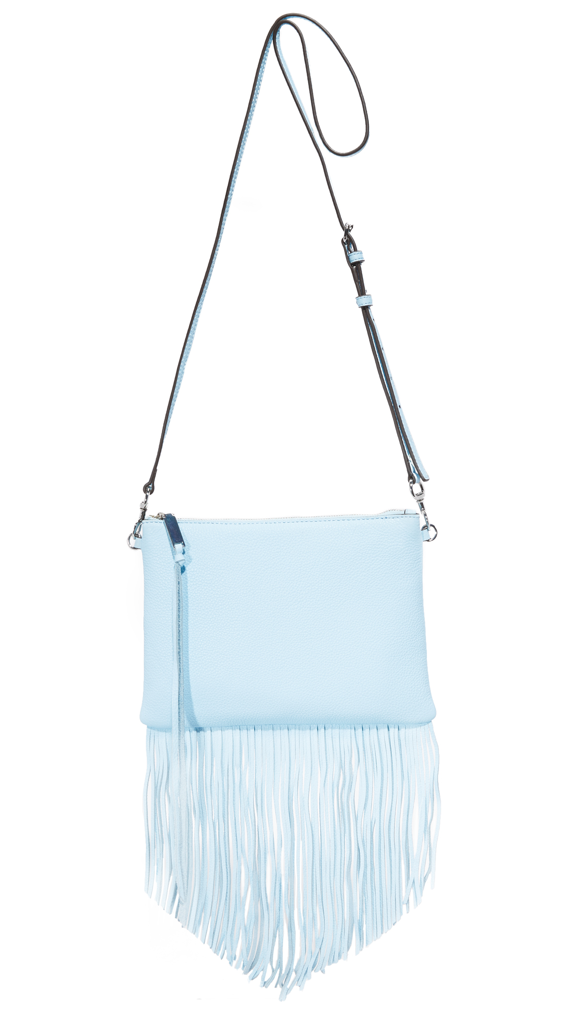 Rebecca Minkoff Fringe Jon Cross Body Bag - Sky