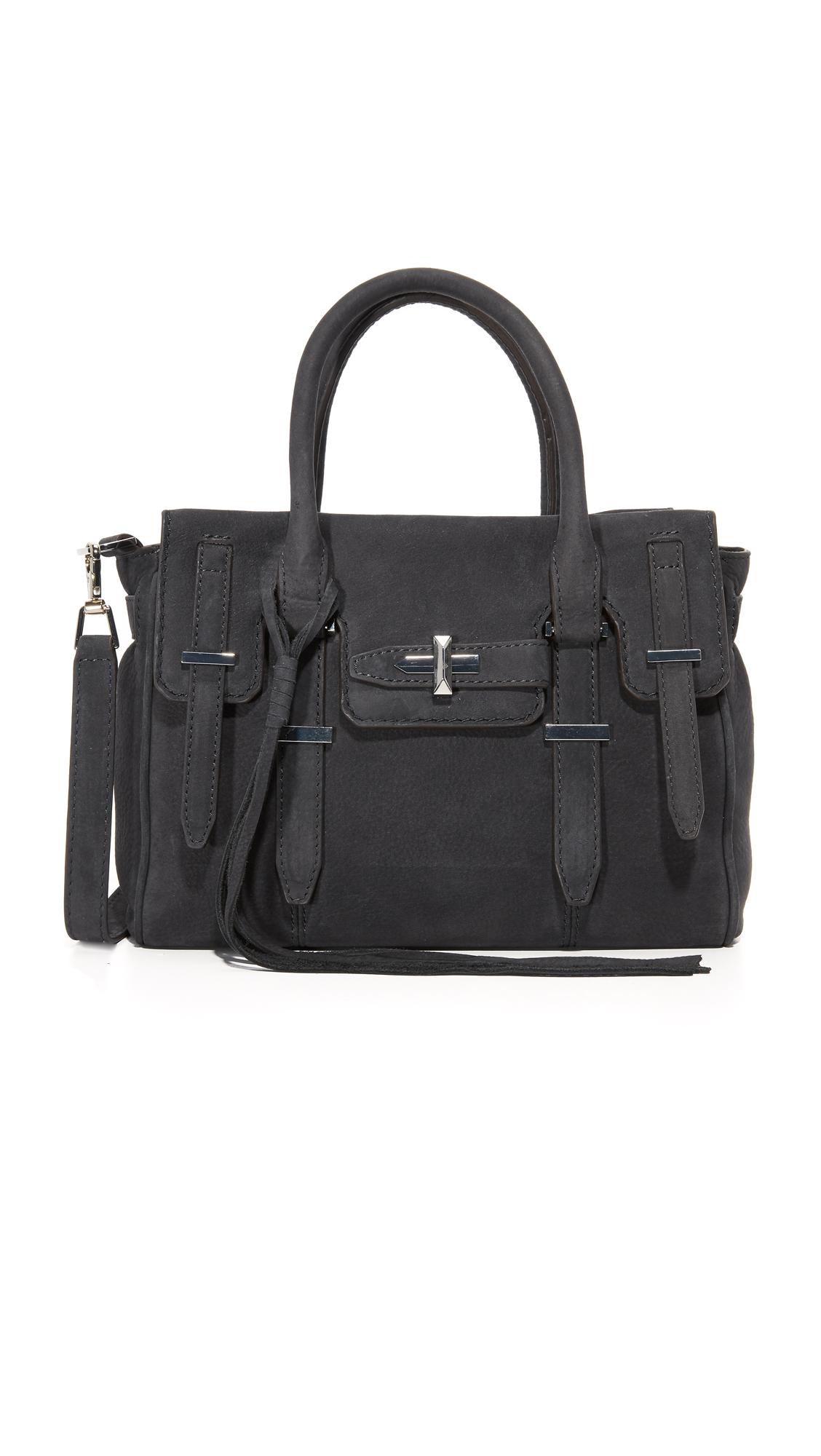 rebecca minkoff female rebecca minkoff top zip mini jules satchel new grey