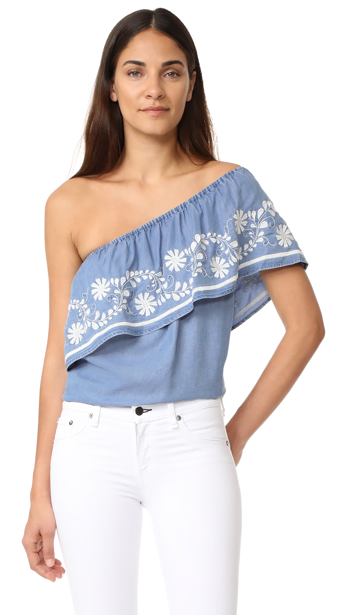 Rebecca Minkoff Rita Top - Light Blue