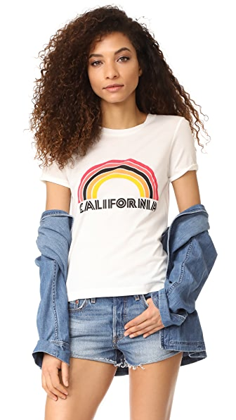 Rebecca Minkoff California Birkin Tee In Chalk/Multi
