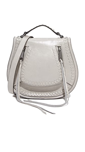 Rebecca Minkoff Small Vanity Saddle Bag In Putty