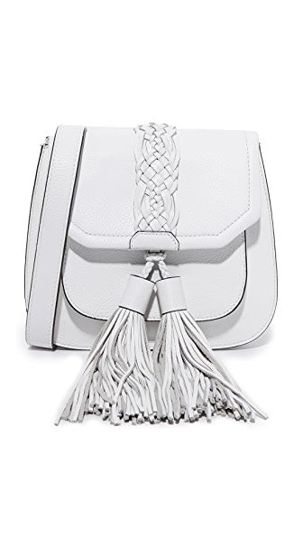 Rebecca Minkoff Isobel Front Pocket Saddle Bag - Optic White