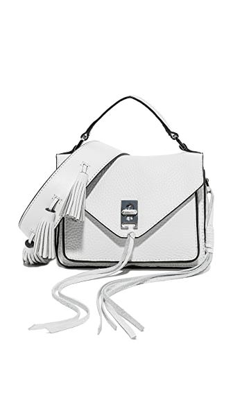 Rebecca Minkoff Mini Darren Messenger with All White Sofia Guitar Strap