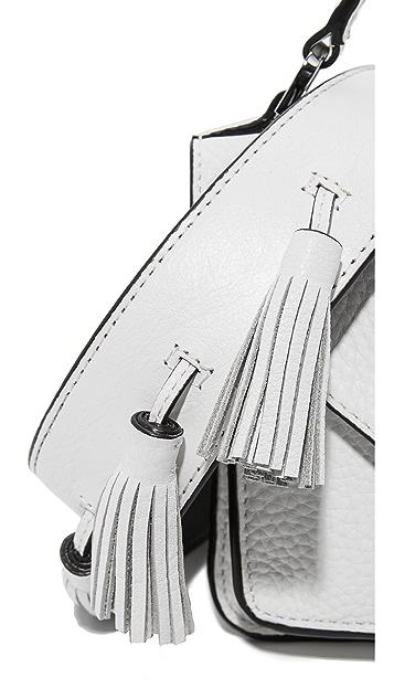 Rebecca Minkoff Маленькая сумка-портфель Darren Messenger с полностью белым ремнем для гитары Sofia