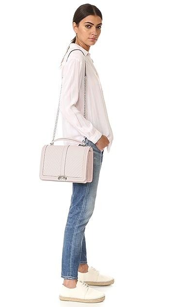 Rebecca Minkoff Большая сумка Love со стеганым геометрическим узором